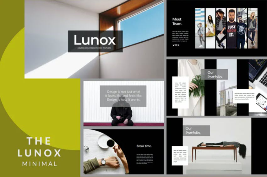 Lunox Dark PPT template