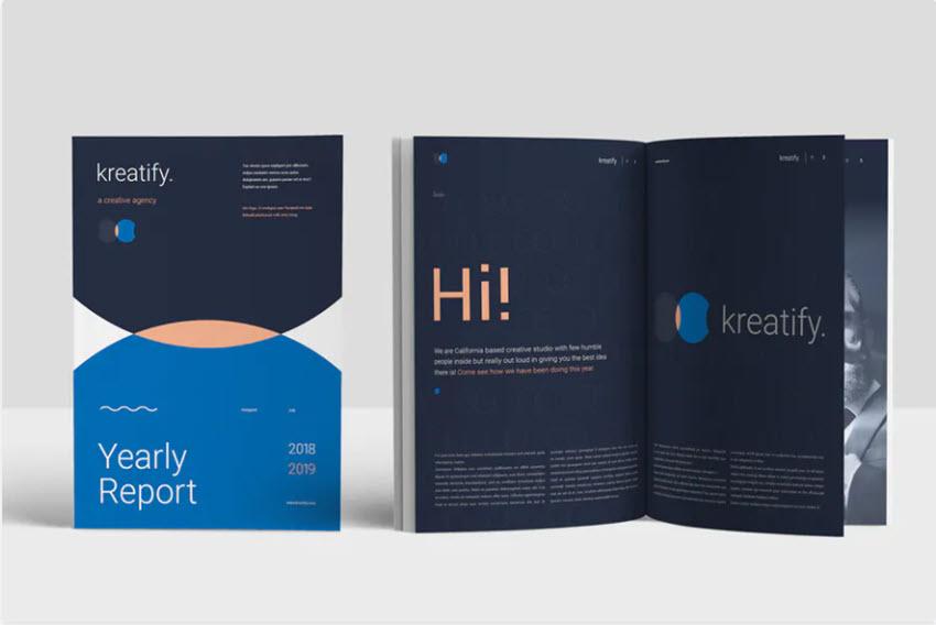 Minimalist Annual Report Template