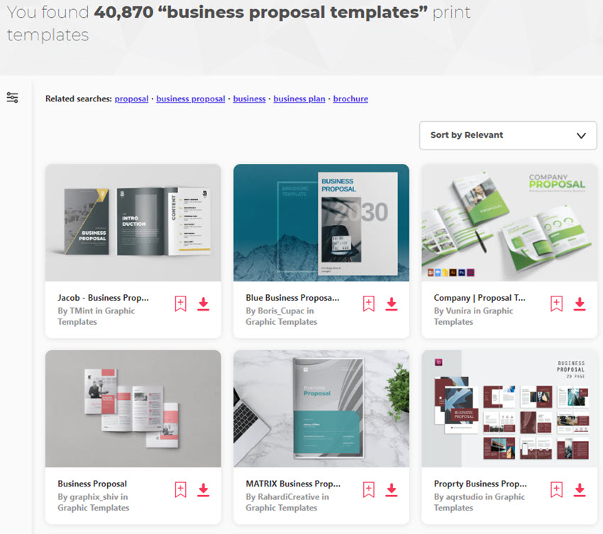 Business Proposal Templates on Elements
