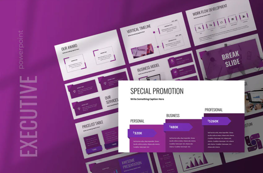 Executive Summary Template for PowerPoint in Envato Elements