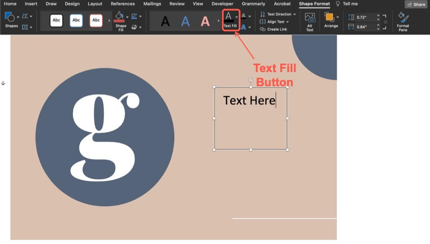How to change the text color