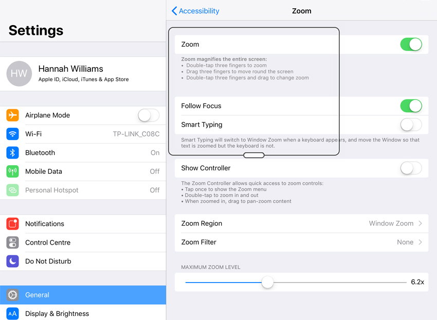 How to Activate an iPad's Accessibility Features